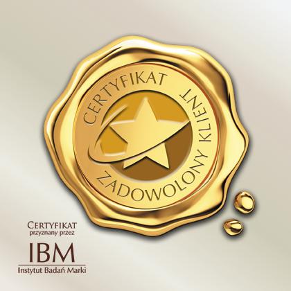 Certyfikat - Zadowolony Klient