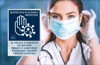 Certyfikat Bezpieczna Placówka Medyczna